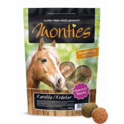 Monties Sárgarépa/zöldfűszer Snacks - extrudált