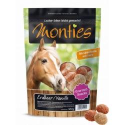 Monties Vanília/Eper Snacks - extrudált