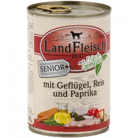 LandFleisch Senior- Szárnyas, Rizs és Paprika