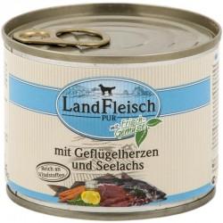 LandFleisch Classic - Kacsa- és csirkeszív tengeri lazaccal